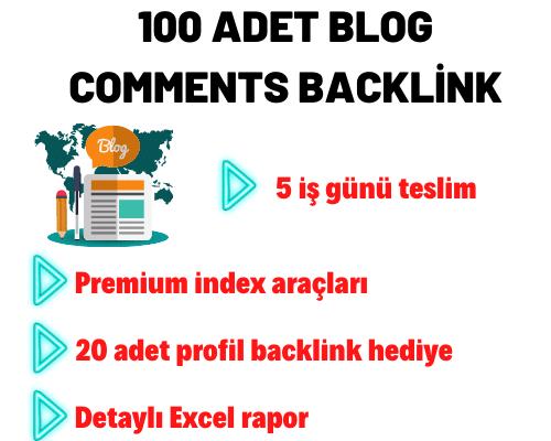 100 ADET BLOG COMMENTS BACKLİNK